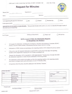 Local 13 Request for Minutes form