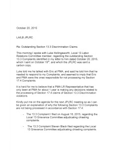 Eric- letter to JPLRC re Luke letter page 1