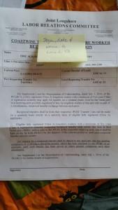 JPLRC Transfer paperwork
