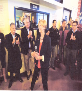 Janice Hahn at Local 13 Dispatch Hall