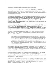 Eric - 22 Shift 13.3 Complaint 1