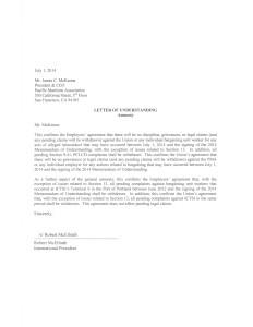 Amnesty Letter