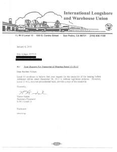 Eric - Hudak letter sent with 12-18-12 transcript