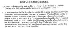 Trial Committee Procedure