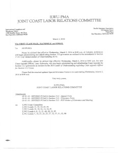 CLRC memo re 13.2 procedure inc new Appeals Officer