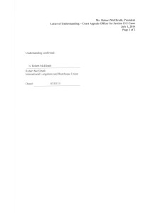 LOU 7-1-14 re 13.2 Coast Appeals Officer agreement 1