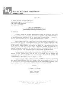LOU 7-1-14 re 13.2 Coast Appeals Officer agreement