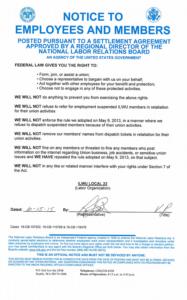 Local 23 NLRB Posting Regarding Internet posting
