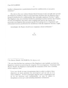 NLRB Advice memo on confidentiality30_CA_089350_01_29_13_ 2